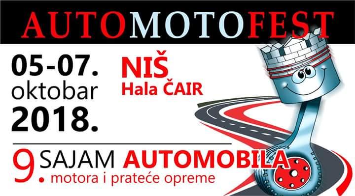 Auto moto fest od 5. do 7. oktobra