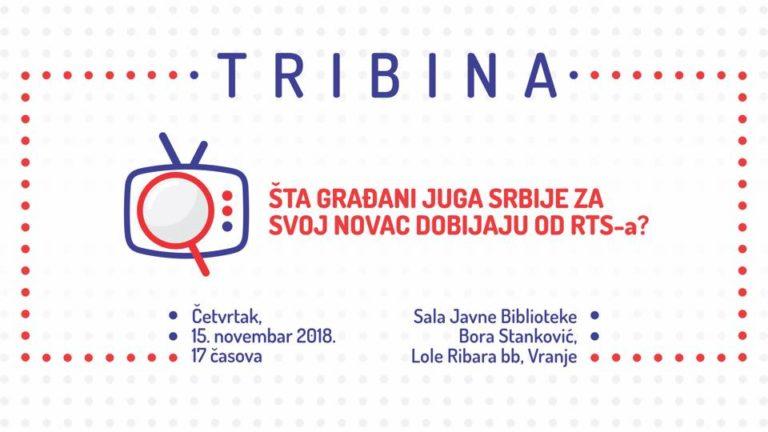 """Tribina ,,Šta građani juga Srbije dobijaju za svoj novac od RTS-a?"""""""