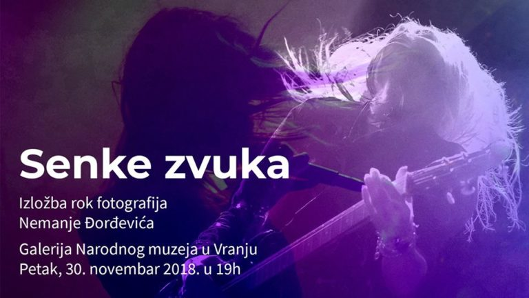 """Izložba rok fotografija ,,Senke zvuka"""" autora Nemanje Đorđevića iz Vranja"""