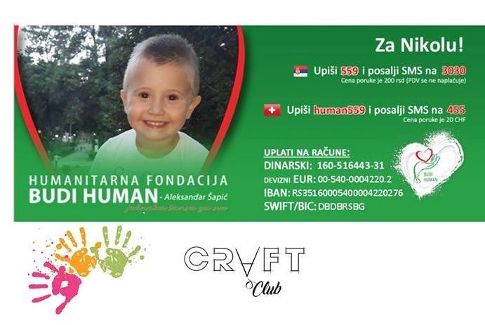 Novogodišnja humanitarna izložba CRAFT kluba u Vranju za Nikolu Pavlovića