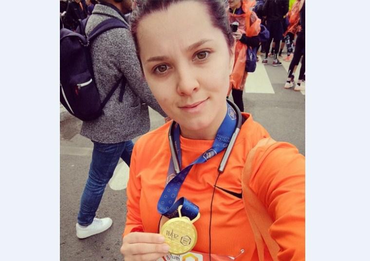 Vranjanka Katarina Trajković učestvovala na polumaratonu u Parizu