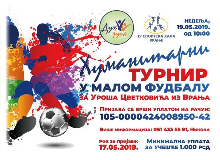Humanitarni turnir u malom fudbalu za Uroša Cvetkovića iz Vranja