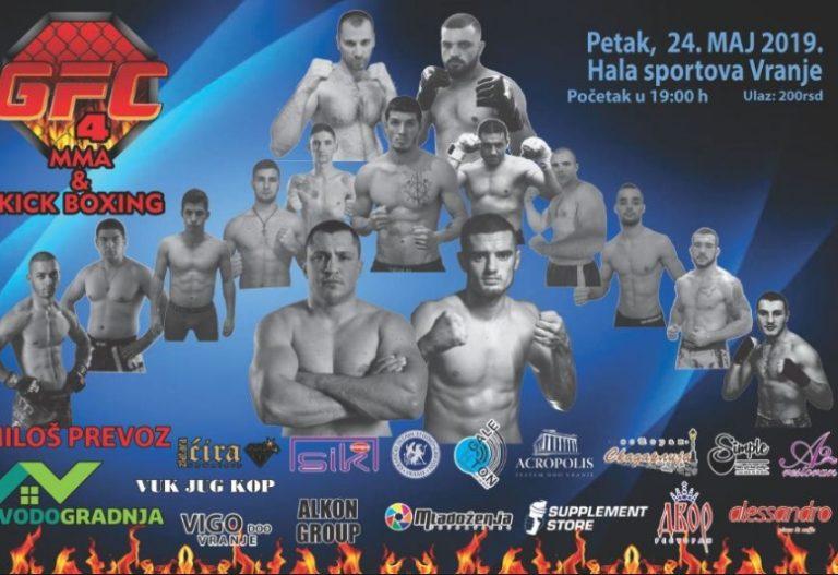 4. po redu  GFC MMA i kik-boks spektakl u Vranju
