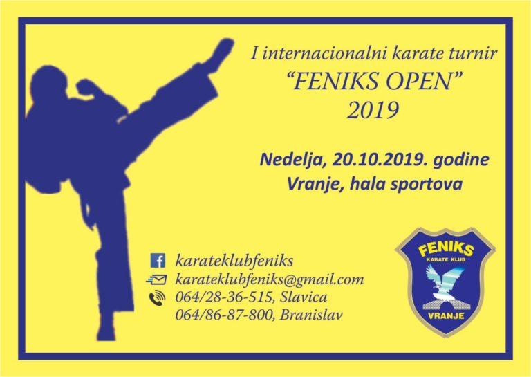 I Internacionalni karate turnir u Vranju – ,,Feniks Open 2019´´