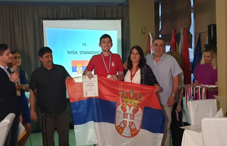 Gimnazijalac Miša Stanković osvojio srebro na Internacionalnoj geografskoj olimpijadi