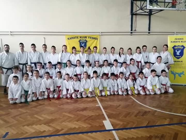 Karate klub Feniks iz Vranja dodeljuje nagrade najuspešnijim karatistima za 2019. godinu