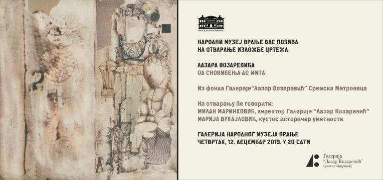 """Изложба цртежа """"Од сновиђења до мита"""", Лазара Возаревића"""