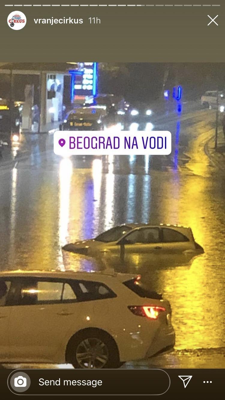 Beograd pod vodom: strašno nevreme pogodilo prestonicu